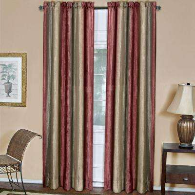 Semi-Opaque Ombre 50 in. W x 84 in. L Curtain Panel in Burgundy