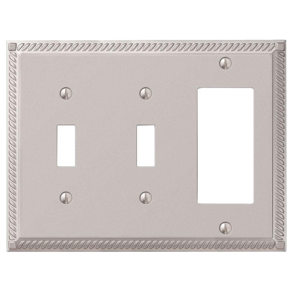 Metal Switch Plates Wall The Home Depot Information On Some Advice In Households With Power Lightswitch Cached Georgian 2 Toggle And 1 Decora Combination Plate Nickel