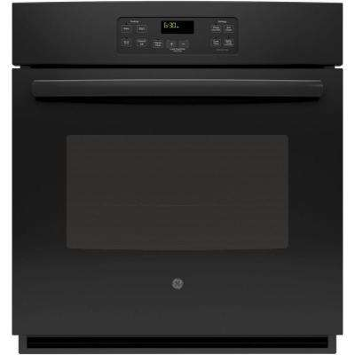 27 in. Single Electric Wall Oven Standard Clean with Steam in Black