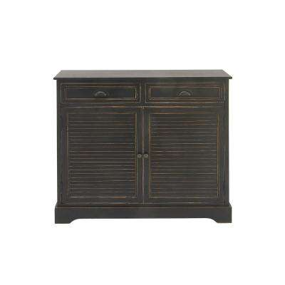 New Traditional Black Wooden Cabinet
