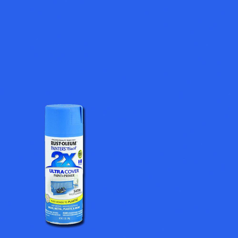 Rust Oleum Painter S Touch 2x 12 Oz Satin Wildflower Blue