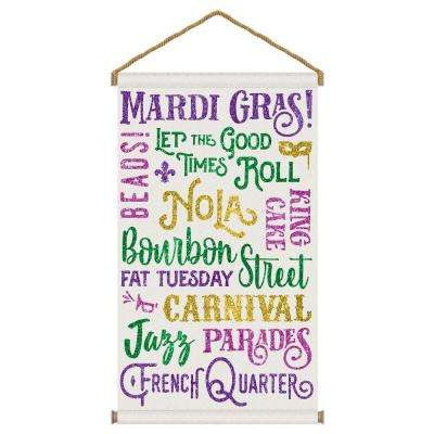 31.5 in. Mardi Gras Hanging Canvas Sign (2-Pack)