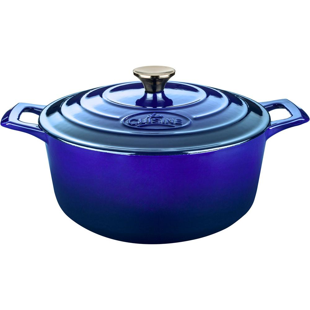 3.7 Qt. Round Cast Iron Casserole with Enamel in High Gloss