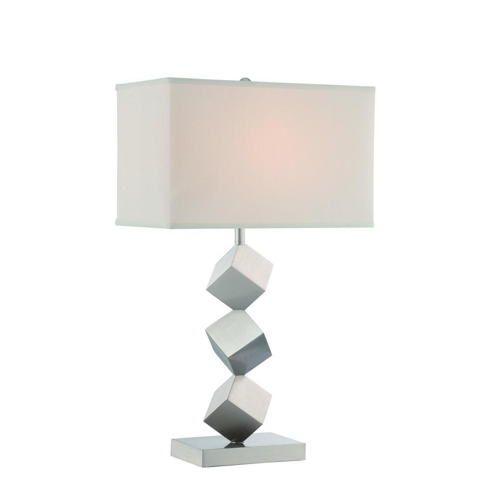 27.5 in. Satin Nickel Table Lamp