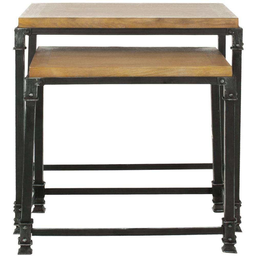 Abraham Natural 2-Piece Nesting End Table
