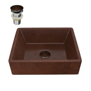 Anzzi Triens 16 In Handmade Vessel Sink In Hammered Antique Copper Bs 013 The Home Depot