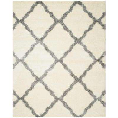 Montreal Shag Ivory/Gray 9 ft. x 12 ft. Area Rug