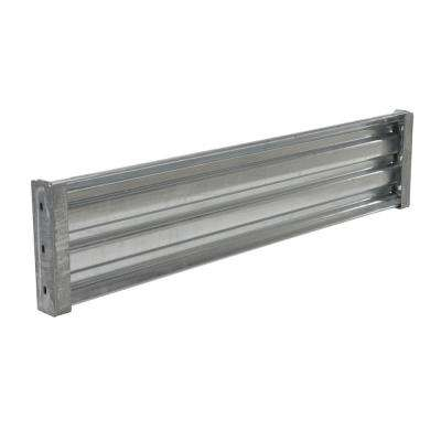 66 in. Galvanized Steel Drop-in Style Structural Guard Rail with 2-Brackets