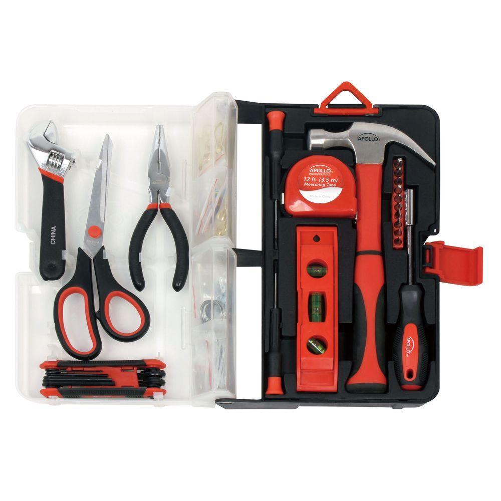 126-Piece Kitchen Drawer Tool Kit in Red