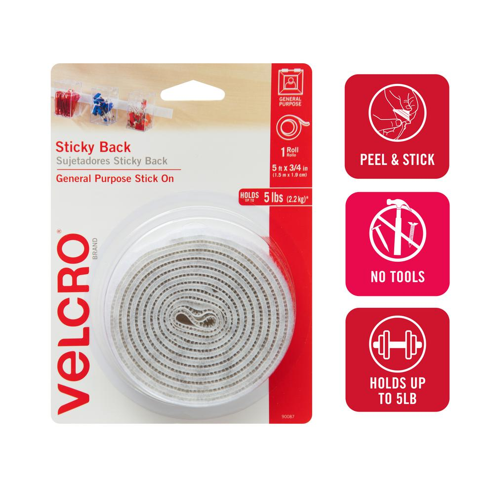 Velcro Brand Stick On For Fabrics 8 x Ovals 24 mm Black 3 Pack