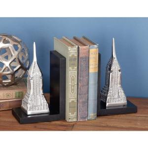 7 inch x 5 inch Classic MDF and Aluminum Tower Bookends by