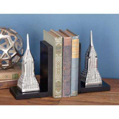7 in. x 5 in. Classic MDF and Aluminum Tower Bookends