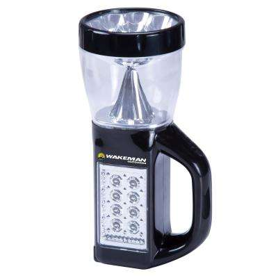 3-in-1 LED Camping Lantern Flashlight, Black