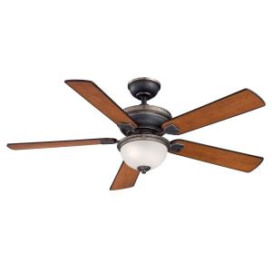 Home Decorators Collection Colbert 52 In Indoor Tarnished Bronze Ceiling Fan With Light Kit And