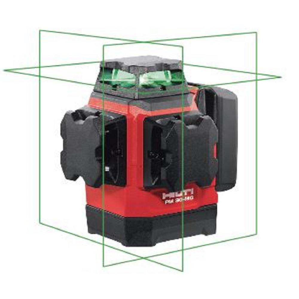 Hilti PM 30-MG 131 ft. Multi-Green Line Laser Level with Magnetic Bracket and Hard Case (Batteries not included)