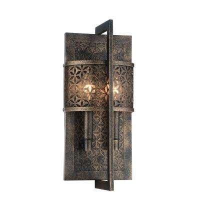 Pollett 2-Light Golden Bronze Sconce