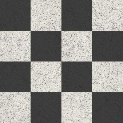 Black and White Terrazzo Residential Vinyl Sheet, Sold by 12 ft. Wide x Custom Length