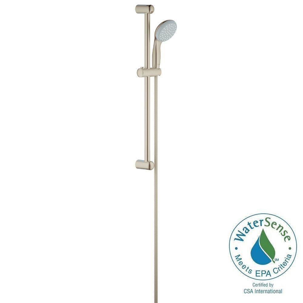 New Tempesta 100 2-Spray Wall Bar Shower Kit in Brushed Nickel