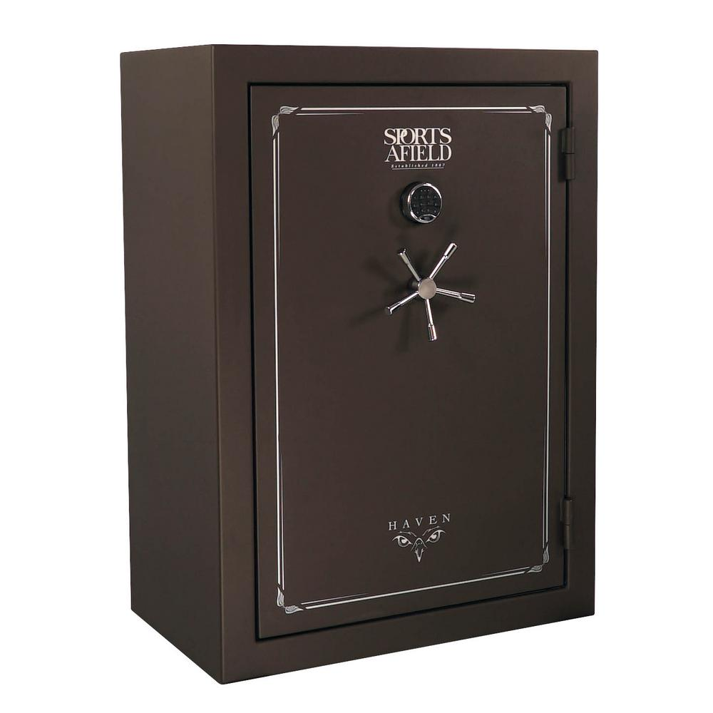 Haven Series 48-Gun Fire/Waterproof Elock Gun Safe, Dark Earth Matte