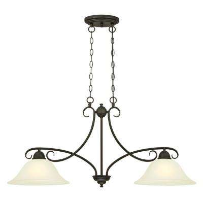 Dunmore 2-Light Oil Rubbed Bronze Island Pendant