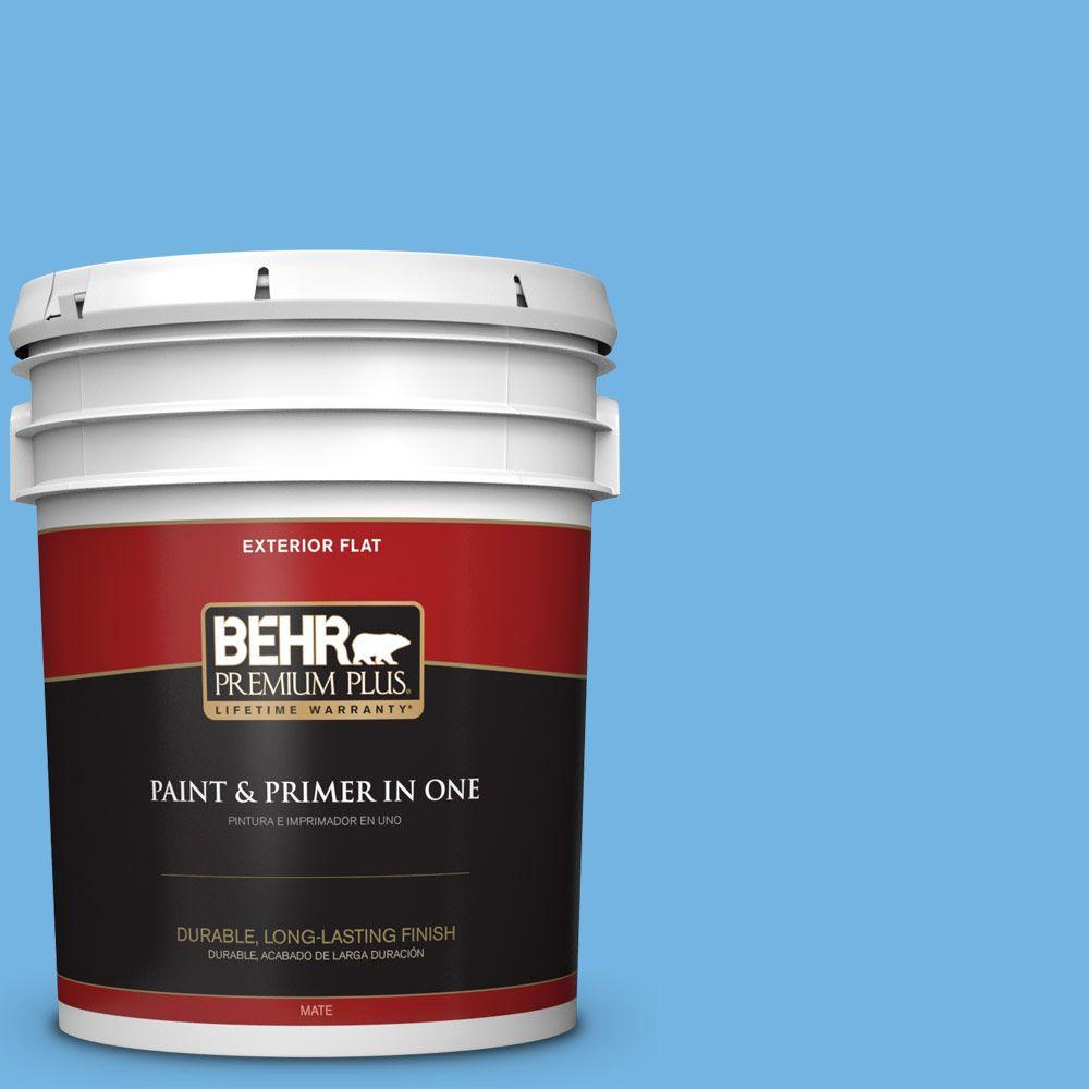 BEHR Premium Plus 5-gal. #P510-4 Electra Flat Exterior Paint