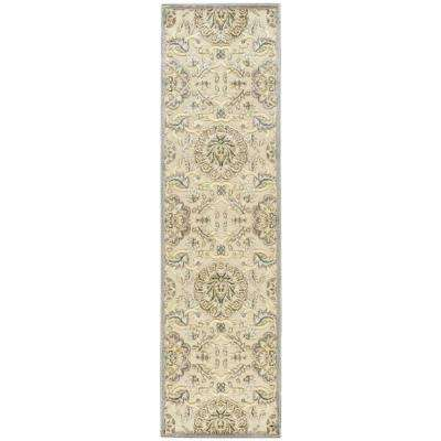 Graphic Illusions Ivory 2 ft. x 8 ft. Runner Rug