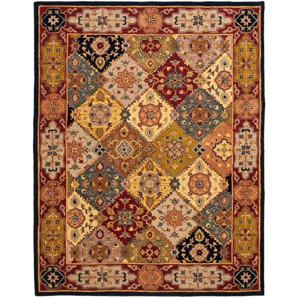 Safavieh heritage multi red 9 ft x 12 ft area rug hg512b for Area 604