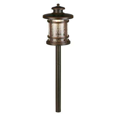Walkway path lights landscape lighting the home depot 3 watt oil rubbed bronze outdoor integrated led landscape path light with crackled shade aloadofball Images