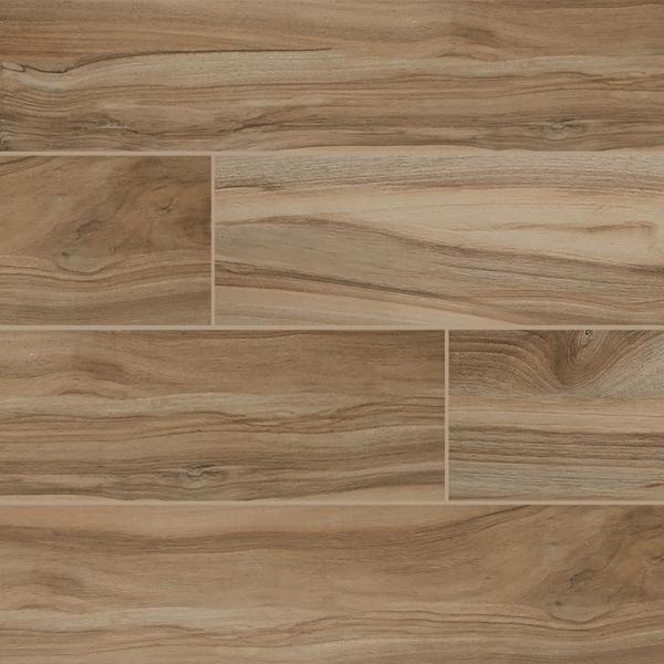Aspenwood Amber 9 in. x 48 in. Matte Porcelain Floor and Wall Tile (12 sq. ft. / case)