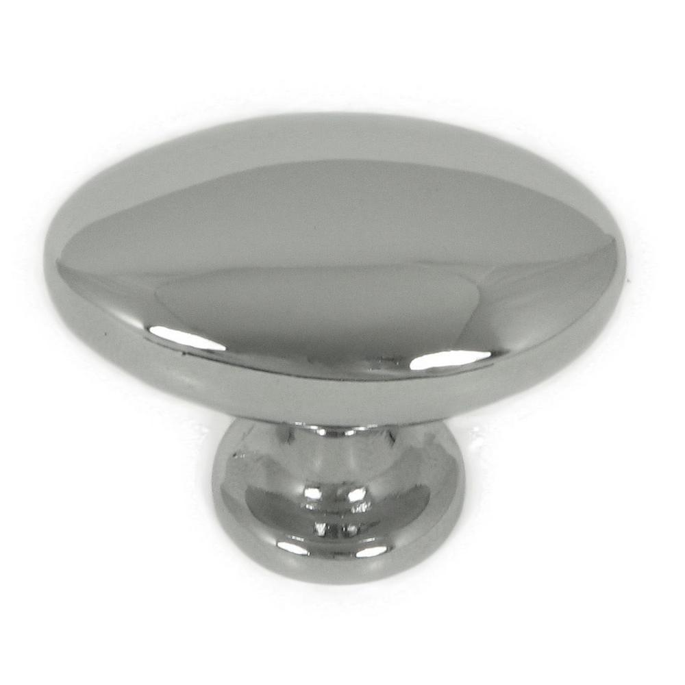 Stone Mill Hardware York 1-1/2 In. Polished Chrome Oval