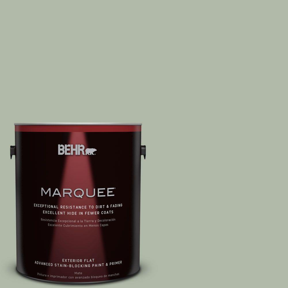 BEHR MARQUEE 1-gal. #N390-3 Jojoba Flat Exterior Paint