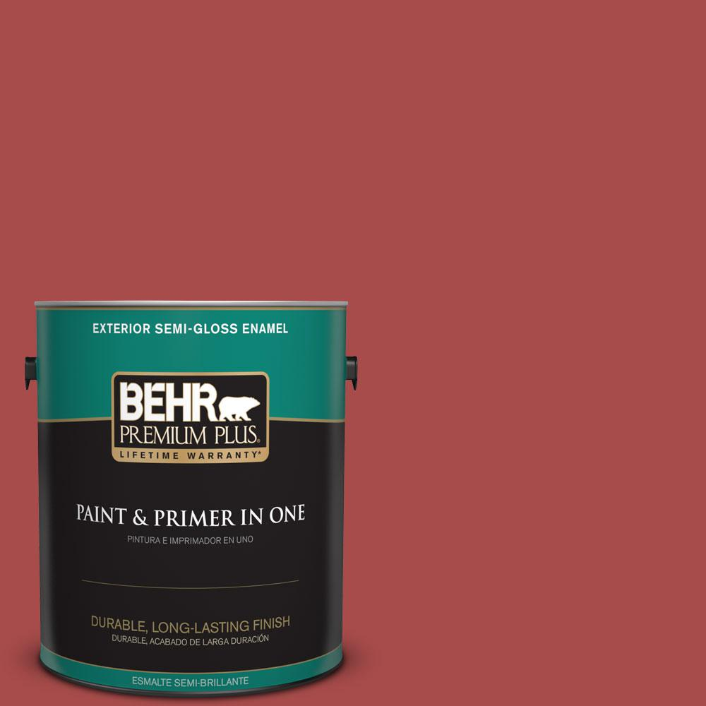 Home Decorators Collection 1-gal. #HDC-CL-09 Persimmon Red Semi-Gloss Enamel
