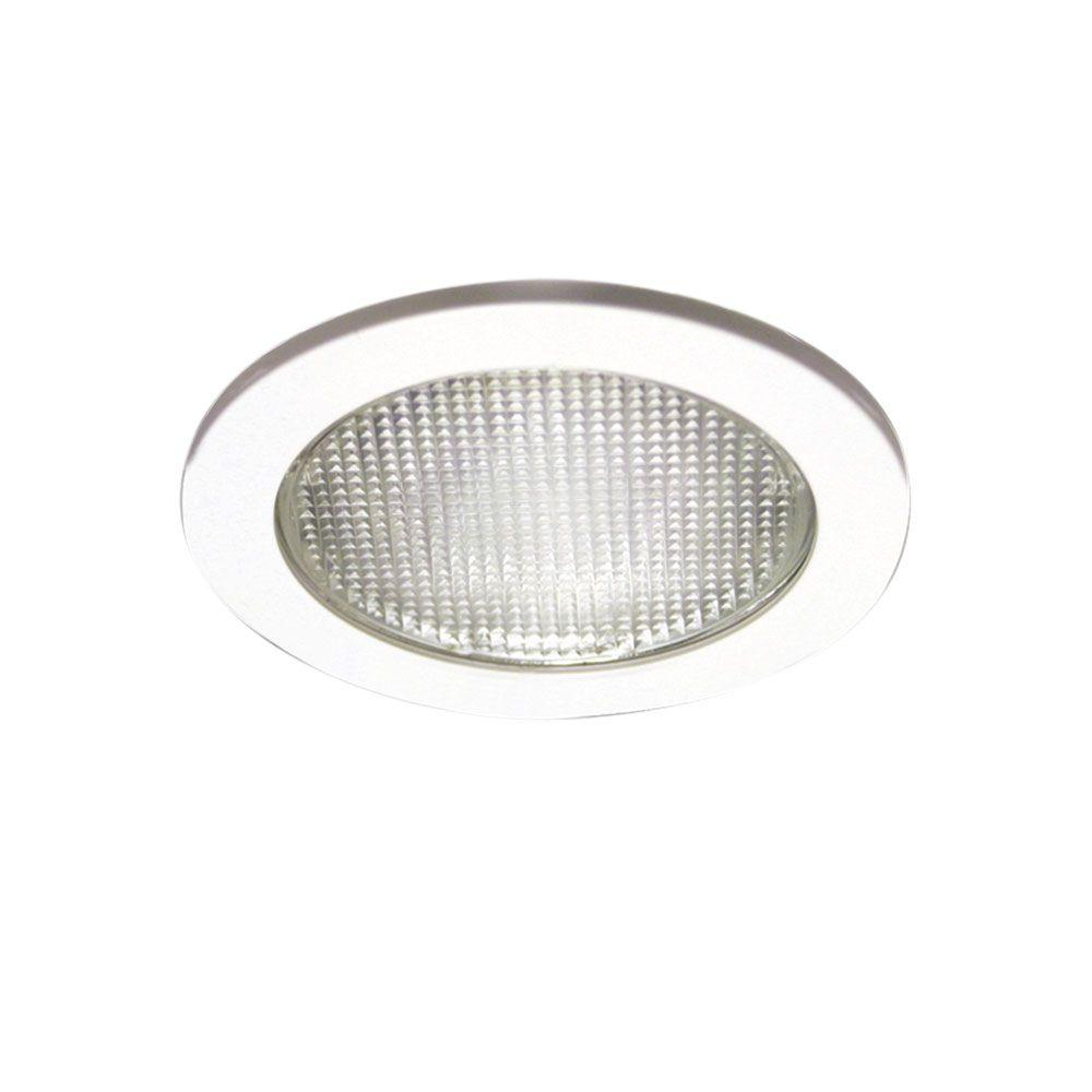 Halo 951 Series 4 in. White Recessed Ceiling Light with Lensed Shower Trim