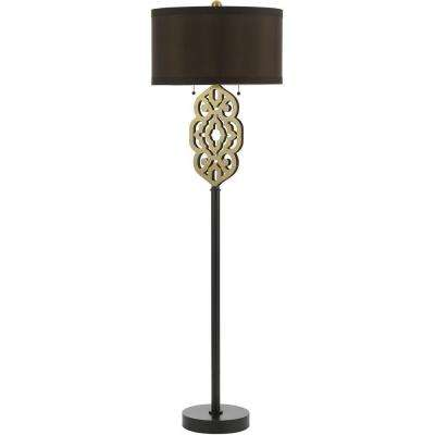8424 25.5 in. Brass Floor Lamp