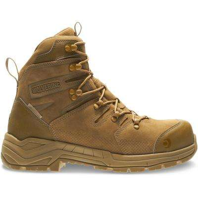 Men's Contractor LX Size 10M Coyote Full-Grain Leather Composite 8 in. Work Boot