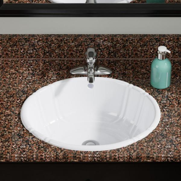 Mr Direct Dual Mount Porcelain Drop In Bathroom Sink In White O1815 W The Home Depot
