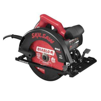 15 Amp Corded Electric 7-1/4 in. Magnesium Circular Saw with 7-1/4 in. Diablo Blade