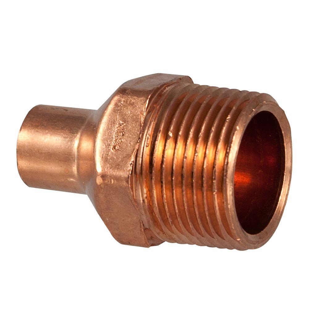 3/4 in. Copper Pressure Cup x MIPT Male Adapter