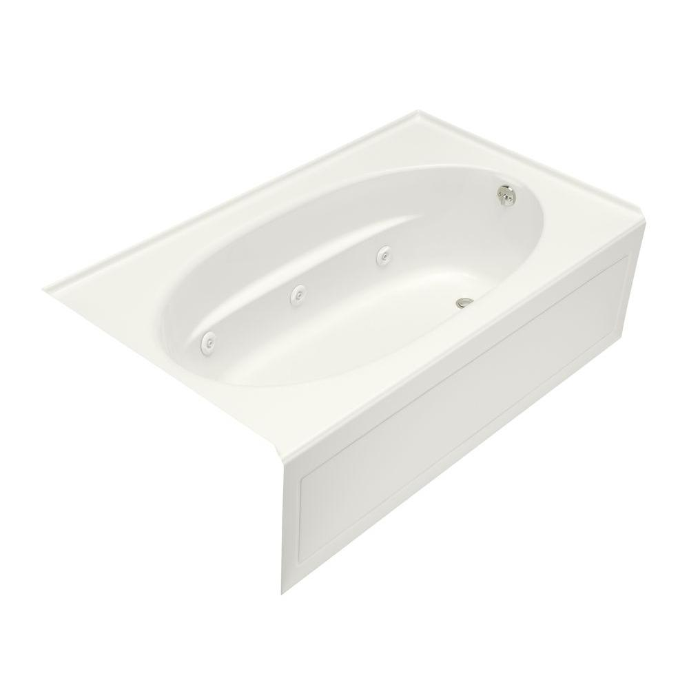 KOHLER Windward 6 ft. Right-Drain Rectangular Alcove Whirlpool ...