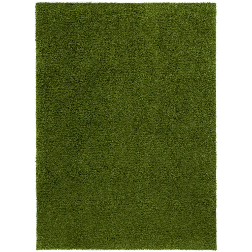 Well woven arcadia 6 ft 7 in x 9 ft 3 in artificial for Indoor outdoor carpet green