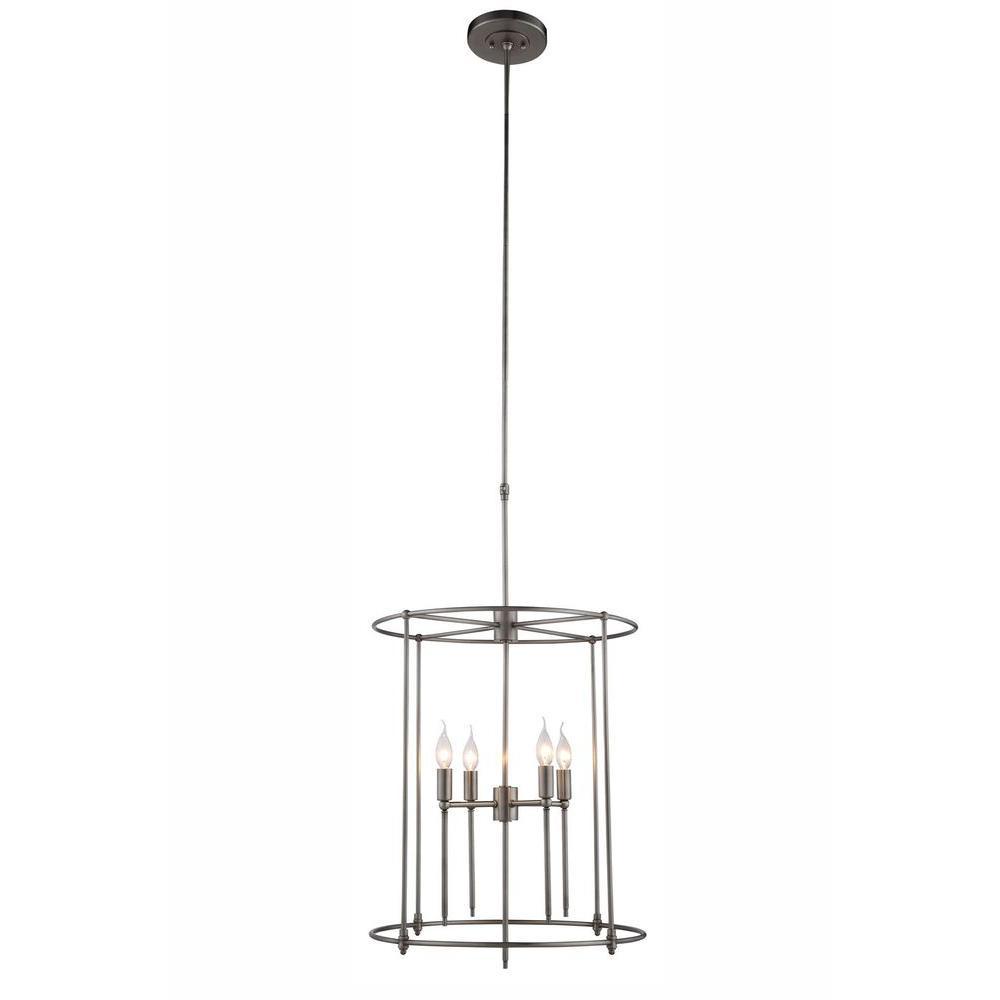 elegant lighting eaton 4light vintage nickel pendant lamp