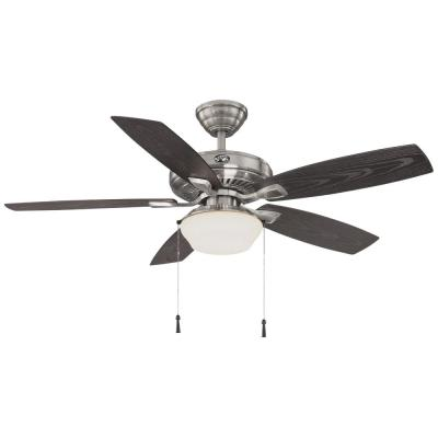 Gazebo 52 in. LED Indoor/Outdoor Brushed Nickel Ceiling Fan