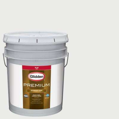 5 gal. #NFL-120H Seattle Seahawks White Flat Exterior Paint