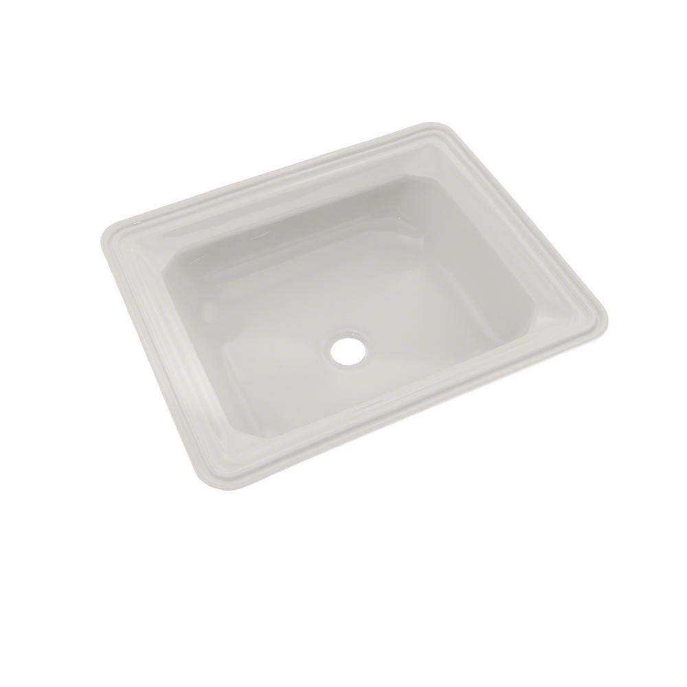 Toto Guienevere 19 In Undermount Bathroom Sink With Cefiontect In Colonial White Lt973g 11