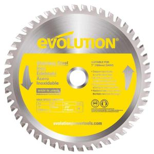 Evolution Power Tools 7 inch 48-Teeth Stainless-Steel Cutting Saw Blade by Evolution Power Tools