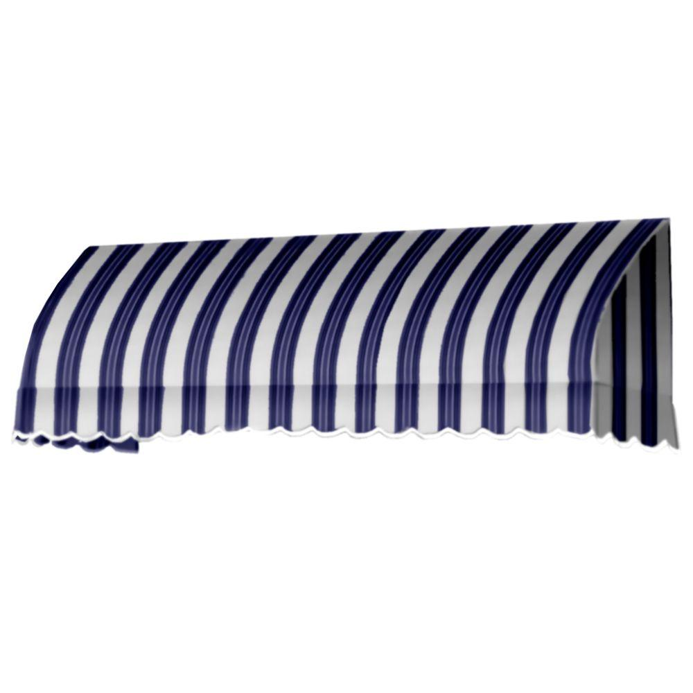 AWNTECH 20 ft. Savannah Window/Entry Awning (44 in. H x 36 in. D) in Navy/White Stripe