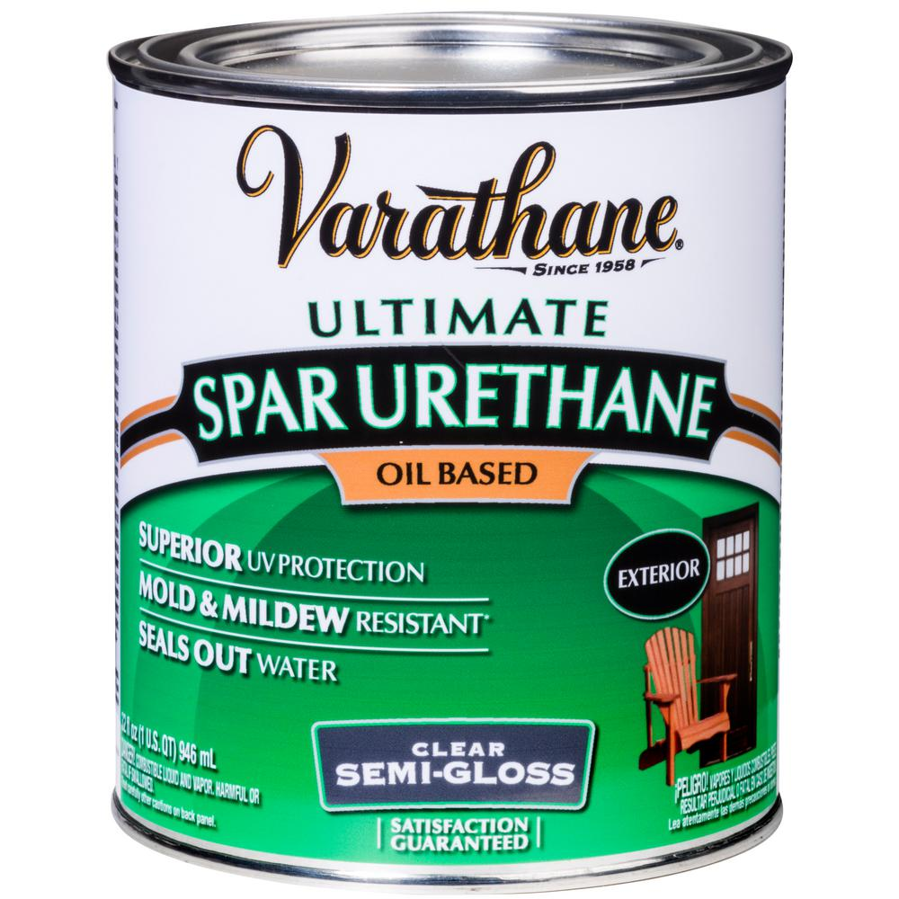 Varathane 1-qt.Clear Semi-Gloss 275 VOC Oil-Based Exterior Spar Urethane (2 Pack)