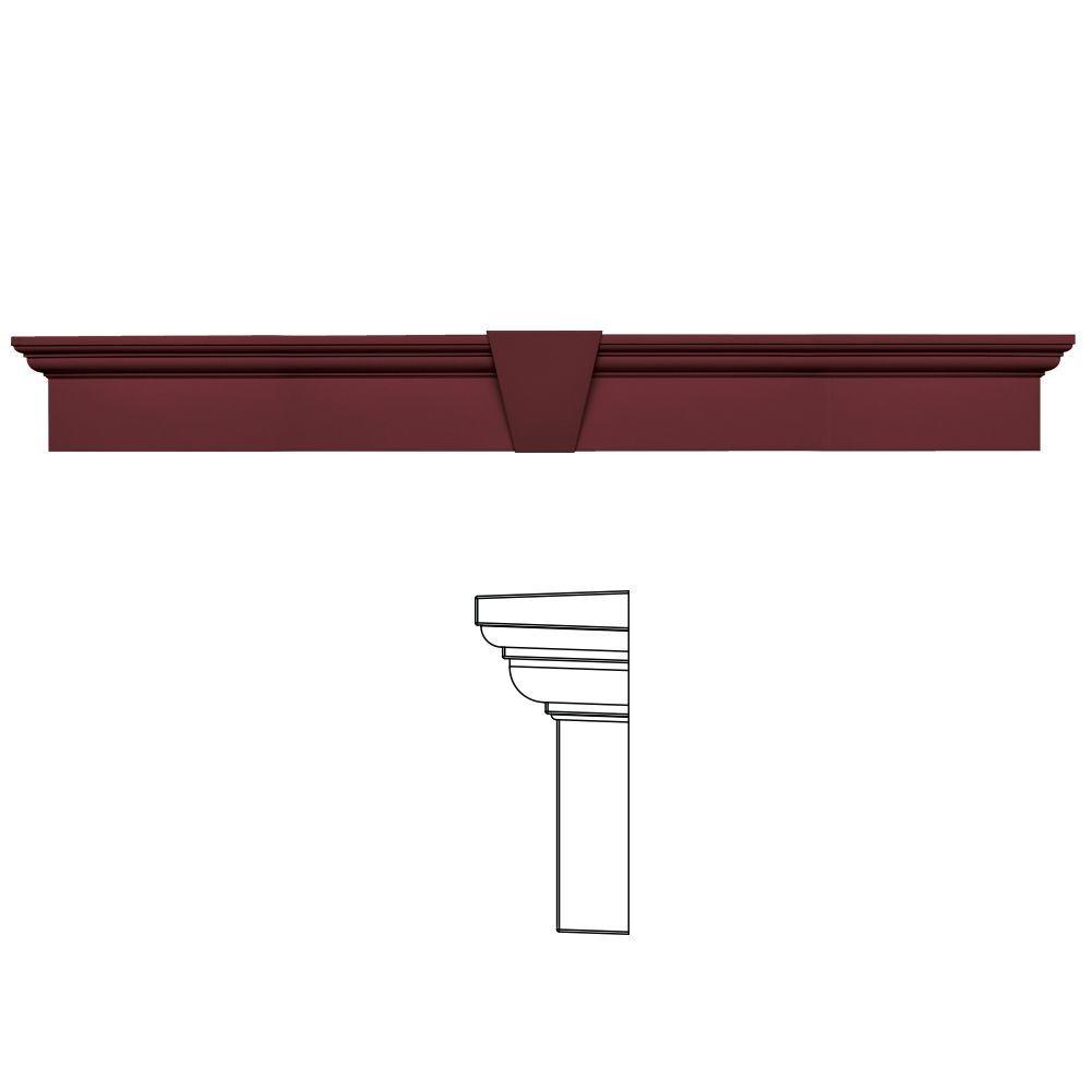 Builders Edge 9 in. x 73-5/8 in. Flat Panel Window Header with Keystone in 078 Wineberry