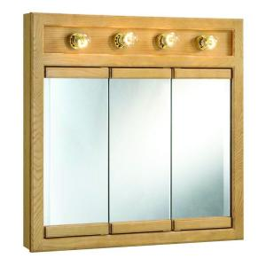 Click here to buy Design House Richland 30 inch W x 30 inch H x 5 inch D Framed 4-Light Tri-View... by Design House.
