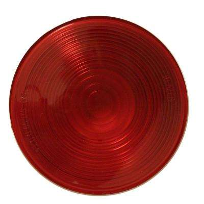 4-1/4 in. Red Round Replacement Lens